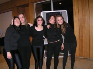 Leila, Filipa, Cátia, Rafa e Olena
